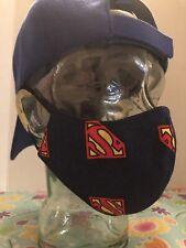 Superman Logo Kids/Youth/Small Handmade Face Mask W/Filter Pocket