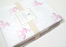 Pottery Barn Kids Multi Colors Organic Cotton Unicorn Rainbow Queen Sheet Set