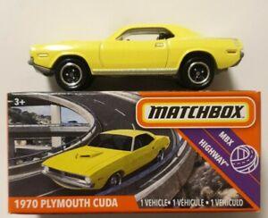 MATCHBOX 2020 HIGHWAY 1970 PLYMOUTH CUDA 56/100 BNIB 2020 VVHTF MATTEL