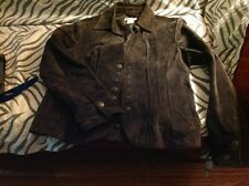 Five 5 Diamonds brand Brown Suede Snap front jacket size Small