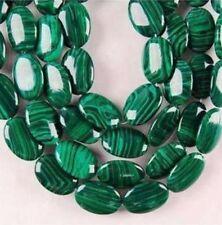 13x18mm Green Malachite Oval Gemstone Loose Beads 15''