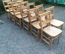 SUPERB SET OF  VINTAGE 12 CHAPLE CHAIRS 36 AVAILABLE
