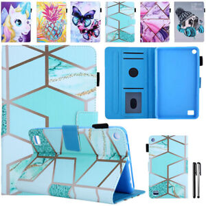 For Amazon Kindle Fire 7 /HD 8 /HD 10 2019 Tablet Leather Smart Stand Case Cover