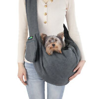 GOOPAWS Comfy Pet Sling for Small Dog Cat, Hand Free Sling Bag