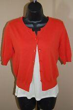 SPARROW Cotton/Cashmere Short Sleeved Cardigan w/Ella Moss Tank Top~XS/S