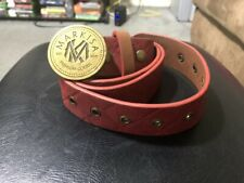 MARKISA - FAUX LEATHER RED BELT (NEW)