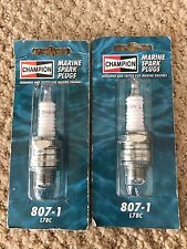 New Pair Champion Marine Spark Plugs L78C Stock No. 807-1 Inboard Outboard Motor