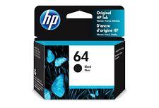 Genuine HP 64 Black Ink Printer Cartridge, New Noir (N9J90AN)