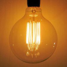 "XLARGE 4.92"" Sunlite 40w Edison Antique G40 Globe Light Bulb, Squirrel Cage"