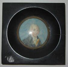 PEINTURE PORTRAIT MINIATURE DIDEROT miniature painting