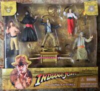 Indiana Jones Collectible Figures Complete CIB Disney Parks Authentic Unopened