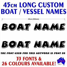 2x45cm custom vessel,tinny,runabout,fishing BOAT NAME lettering decal stickers!