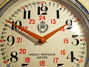 RAF Royal Air Force Wall Clock, WW2 1940 Bakelite Style Replica Clock.