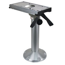 Pedestal-Boat Seat Base Helm Chair Pedestal with Swivel and Slide Seat Pole Base