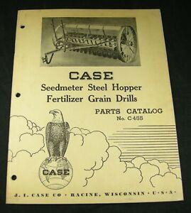 CASE Seedmeter Steel Hopper Fertilizer Grain Drill Parts Manual Book Catalog
