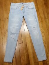 American Eagle Super Low Jegging Jeans Size 10 r Distressed Super Stretch X NWT