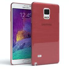 Funda protectora para Samsung Galaxy Note 4 brushed cover móvil, funda rosa