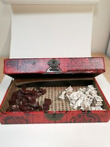Vintage Chinese Chess set in wooden Box - RARE