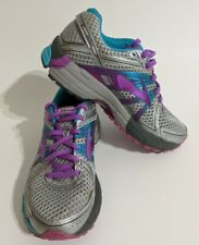 Brooks Adrenaline GTS 17 Womens Silver/Purple/Blue Size 7.5B Running Shoes