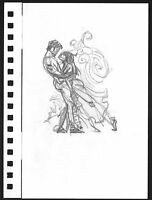 Mike Hoffman hand drawn Original Pencil Art page famous comic artist