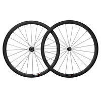 Sapim CX-RAY 38mm Carbon Wheelset BASALT 23 wide Road Bike 700C 3k Matt Tubular