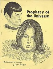 "Star Trek Tos Vintage Gen Fanzine: ""Prophecy of the Universe"" 1981 (Spock)"