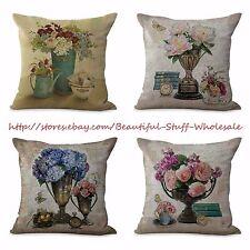 US SELLER-4pcs home decoration pillow case cushion covers vintage flower
