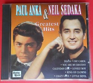 raro cd paul anka & neil sedaka greatest hits diana oh carol you are my destiny