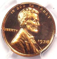 1938 Proof Lincoln Wheat Cent Penny 1C - PCGS PR67 RD (PF67) - $1,500 Value!