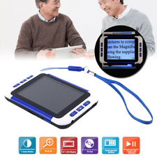 """Portable 3.5"""" 2X-32X Video Digital Low Vision Magnifier Electronic Reading Aid S"""
