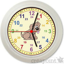 #058 Wanduhr  -> Kinder-Lern-Uhr <- Hund ANSEHEN!