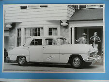 "12 By 18"" Black & White Picture 1952 Dodge Coronet 4 Door Sedan"