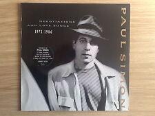 PAUL SIMON - NEGOTIATIONS AND LOVE SONGS 1971-1986 - 2 LP 33 GIRI GERMAN PRESS