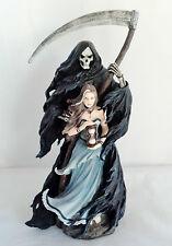 11.75 Inch Gothic Girl & Grim Reaper Santa Muerte Holy Death Statue Figurine