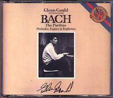 Glenn GOULD: BACH 6 Partita Prelude & Fugue 9 Little Preludes Fughetta CBS 2CD