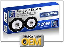 "PEUGEOT EXPERT puerta delantera Altavoces Alpine 6.5"" 17cm KIT DE PARA COCHE"