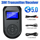 TV PC Car Bluetooth5.0 Transmitter Receiver Wireless For Audio 3.5mm Adapter USB
