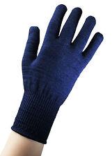 EDZ Merino Wool Thermal Inner Liner Motorcycle Gloves Blue Winter Bike Under