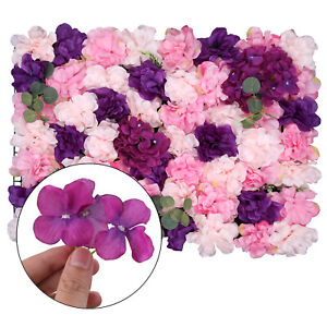 Artificial Hydrangea Rose Flower Wall Panel For Wedding Background Multi-style