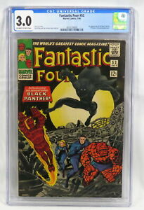 Marvel Comics Fantastic Four #52 CGC 3.5 1st Black Panther Stan Lee Kirby 1966