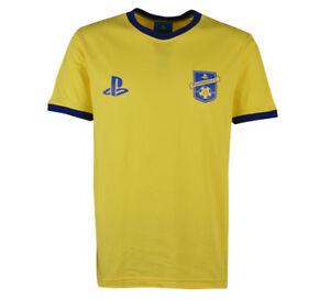 Playstation Tee Yellow/Royal Cotton       / Various Sizes