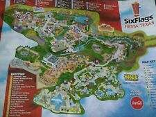 six flags texas map | eBay on doubletree anaheim map, six flags oklahoma city map, six flags santa clarita map, six flags kentucky map, six flags md schedule, california's great america map, six flags vallejo map, six flags california map, six flags ohio map, six flags chicago map, dallas six flags map, six flags mexico city map, six flags tennessee map, fiesta texas map, six flags eureka map, six flags new hampshire map, six flags tx, be live grand punta cana map, six flags saint louis map, six flags san ant,
