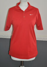 NIKE Golf Dri Fit Women's Polo Shirt Top Collared L / Large Red