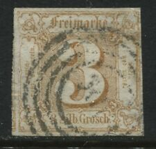 Thurn & Taxis Northern District 1862 3 silbergroschen bistre used  (JD)