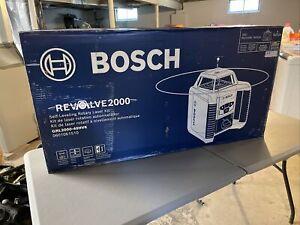 Bosch GRL2000-40HK REVOLVE 2000 Self-Leveling Horizontal Rotary Laser Kit New