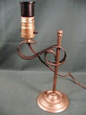 VINTAGE BRASS ADJUSTABLE TABLE DESK LAMP EAGLE BAKELITE ADAPTOR-