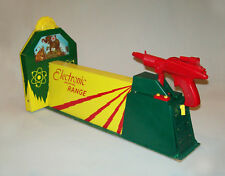 Fantastic vtg 1960s Atomic Ray Gun Shooting Range Target Set Toy MIB Works W/Box