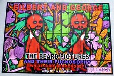 Gilbert and George - The Beard Pictures SIGNED 2017 ART EXHIBITION POSTER #4