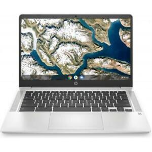 """HP 14 14"""" Chromebook Intel Celeron N4000 4GB RAM 32GB eMMC Mineral Silver"""