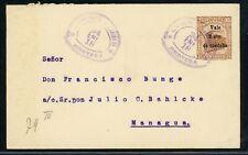 Nicaragua Postal Stationery PSE - H&G #79 1918 2c/35c JINOTEGA - MANAGUA $$$